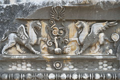 Ancient marble decorations Stock Photography