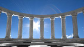Ancient marble pillars stock illustration