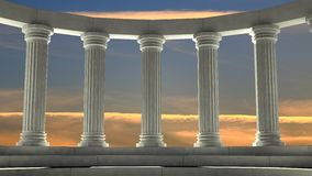 Ancient marble pillars Stock Image
