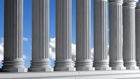 Ancient marble pillars Royalty Free Stock Photo