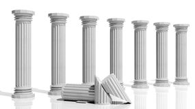 Ancient marble pillars Royalty Free Stock Photos