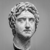The ancient marble portrait bust Royalty Free Stock Photography