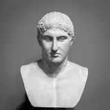 The ancient marble portrait bust Royalty Free Stock Photos
