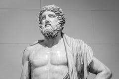 The ancient marble portrait bust Stock Photos