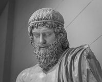 The ancient marble portrait bust Stock Images