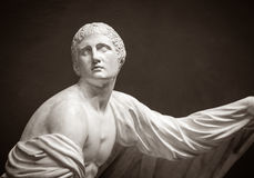 The ancient marble portrait bust Stock Image