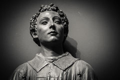 The ancient marble portrait bust Stock Photography