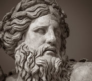 The ancient marble portrait of man with beard Stock Photo