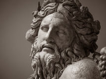 The ancient marble portrait of man with beard Stock Photography