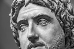 The ancient marble portrait of man with beard Stock Photos