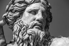 The ancient marble portrait of man with beard Royalty Free Stock Image
