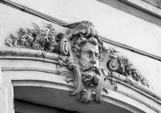The ancient marble portrait of man with beard Royalty Free Stock Photos