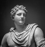 The ancient marble portrait of Meleager Royalty Free Stock Image