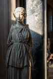 Ancient Marble Statue with Sunlight Face in Vatican Museum Stock Images