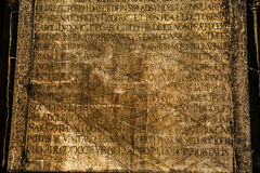 Ancient Marble Stone and Alphabet Stock Photos