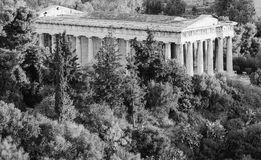 Marble temple. Ancient marble temple in Athens in monochrome Royalty Free Stock Images