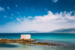 Ancient marine fortifications. Ruins of old tower Stock Image