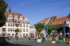 The ancient Market square in Naumburg; Saxony-Anhalt, Germany Stock Image