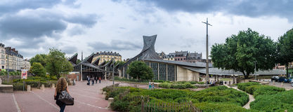 The ancient market square in Rouen Royalty Free Stock Images