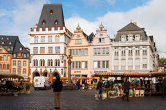 The ancient Market square in Trier city in Germany Stock Photography