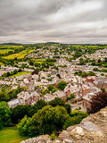 Town with a view. The ancient market town of totnes, Devon, England Royalty Free Stock Photos