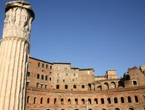 Ancient markets of Trajan in Rome Stock Photo
