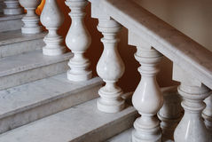 Ancient marmoreal stairs with balusters Royalty Free Stock Photo