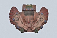 Ancient mask. Isolated old and ancient south american mask Royalty Free Stock Photos