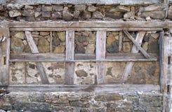 Ancient masonry with half-timbered Stock Photography