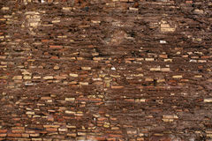 Ancient masonry. Ancient rough stonework of multi-colored bricks in the background Royalty Free Stock Photography
