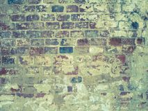 Ancient masonry. Shabby surface of old brick wall. stock image