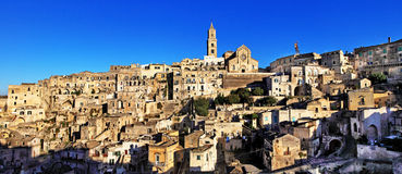 Ancient Matera, Basilicata, Italy Royalty Free Stock Photography