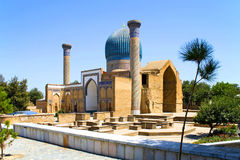 Ancient Mausoleum of Tamerlane in Samarkand. Ancient  Mausoleum Gur Emir, a family tomb of Tamerlane (Amir Timur) and his successors, Samarkand, Uzbekistan,  15 Royalty Free Stock Photography