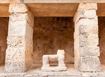 Ancient Maya archaeological site  in Chichen Itza temple, Mexico Royalty Free Stock Photo
