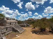 Ancient Maya city of Ek Balam. Ruins of historical buldings ancient Maya city of Ek Balam royalty free stock image