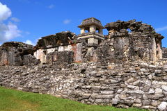 Ancient maya city of Palenque XV Stock Photo