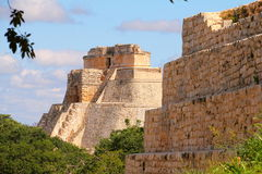Ancient Maya city of Uxmal V royalty free stock image