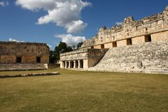 Ancient Maya city of Uxmal, Yucatan, Mexico Royalty Free Stock Photography