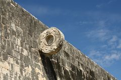 Ancient Maya game in Chichen Itza, Yucatan, Mexico Royalty Free Stock Photos