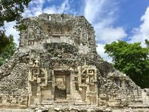 Ancient Maya ruin in Chicina, Campeche, Mexico stock photo
