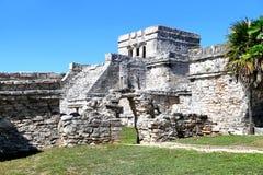 Ancient Maya ruins in Tulum Royalty Free Stock Photos