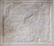 Ancient maya stone relief Stock Image