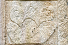 Ancient maya stone relief. Replica of ancient maya stone relief royalty free stock image