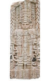 Ancient maya stone relief. Replica of ancient maya stone relief stock photography