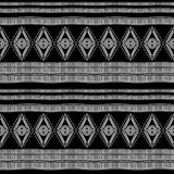 Ancient maya tribal ethnic seamless pattern with black and white color vector illustration for fashion textile print and wrapping. Graphic art design decor stock illustration