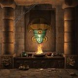 Ancient Mayan altar. Fantasy temple with an ancient Mayan altar Stock Photography