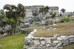 Ancient Mayan Architecture and Ruins located in Tulum, Mexico of Royalty Free Stock Photography