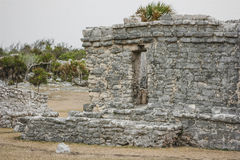 Ancient Mayan Architecture and Ruins located in Tulum, Mexico of Royalty Free Stock Image