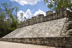 Ancient Mayan Ball Court in Coba. Mexico Stock Photo
