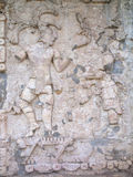 Ancient Mayan bas-relief in Palenque. Ancient Mayan bas-relief in the Temple of Inscriptions in Palenque, Mexico Royalty Free Stock Photo